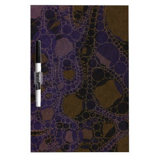 Purple Black Brown Abstract Dry-Erase Board