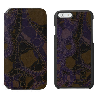 Purple Black Brown Abstract iPhone 6/6s Wallet Case