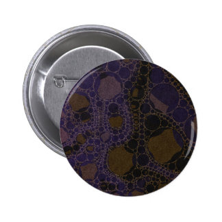 Purple Black Brown Abstract Pinback Button