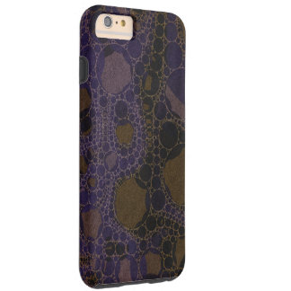 Purple Black Brown Abstract Tough iPhone 6 Plus Case