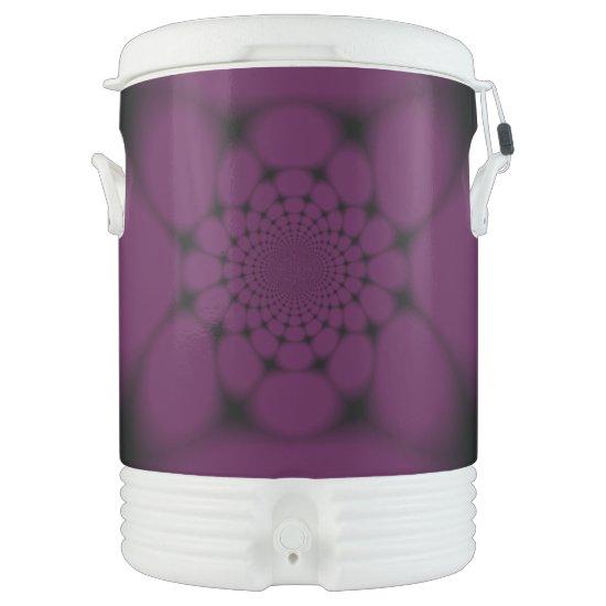 Purple Black Butterfly Petal Beverage Cooler
