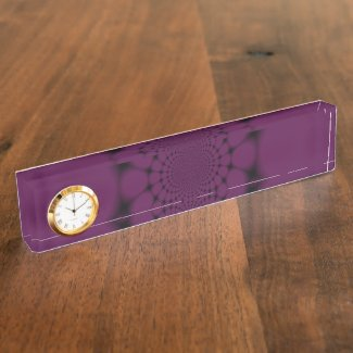 Purple Black Butterfly Petal Desk Name Plate