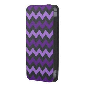 Purple black chevron pattern iphone pouch