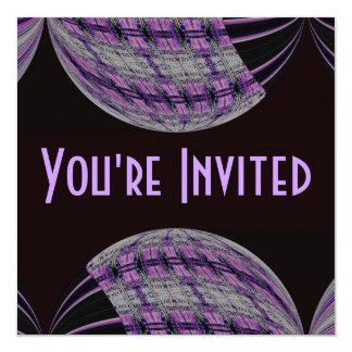 purple black circle card