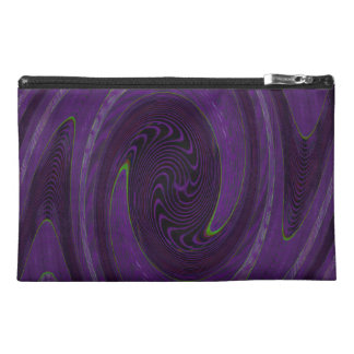 purple black circular abstract travel accessories bag