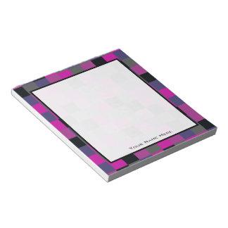 Purple & Black Color Blocks Personalized Notepad