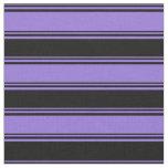 [ Thumbnail: Purple & Black Colored Pattern Fabric ]