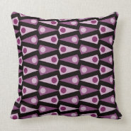 Purple Black Crazy Triangle Pattern Throw Pillow