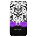 Purple Black Damask Case Savvy iPhone 5C Case