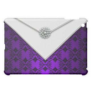 Purple Black Damask Designer  iPad Mini Cases