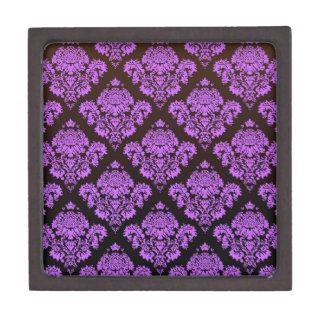 purple,black,damask,vintage,antique,pattern,chic, premium jewelry boxes