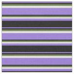 [ Thumbnail: Purple, Black, Dark Olive Green, and Light Cyan Fabric ]