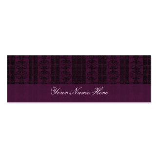 Purple Black Elegant Pattern Double-Sided Mini Business Cards (Pack Of 20)