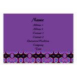 Purple black fractal business card templates