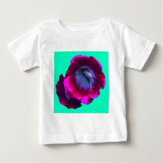 Purple-Black garden Hollyhocks by SHARLES Baby T-Shirt