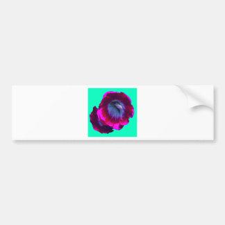 Purple-Black garden Hollyhocks by SHARLES Bumper Sticker