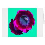 Purple-Black garden Hollyhocks by SHARLES Greeting Cards