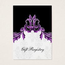 purple black Gift registry  Cards