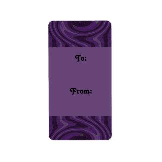 purple black gift tags