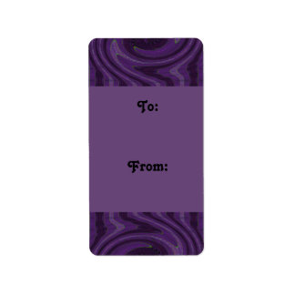 purple black gift tags personalized address label