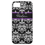 Purple black girls name modern iPhone 5 case