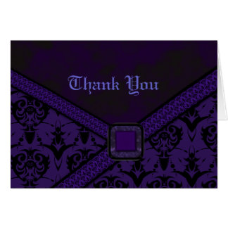 Purple & Black Goth Lace Wedding Greeting Cards