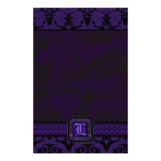 Purple & Black Goth Lace Wedding Stationery
