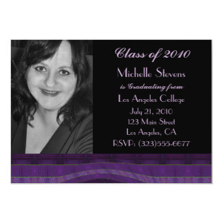 purple black graduation card