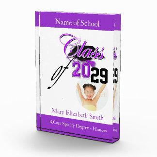 "Purple black graduation girls ""class of"" award"