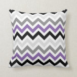 Purple Black Gray Chevron Zigzag Pattern Pillows