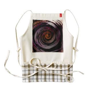 Purple & Black Hypnotic Swirl Art Zazzle HEART Apron