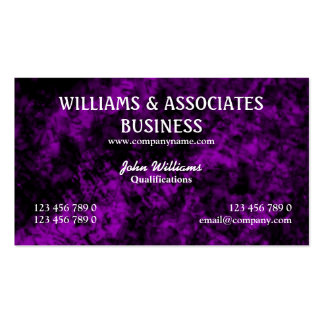 Purple black interior design art Double-Sided standard business cards (Pack of 100)