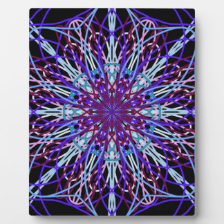 Purple Black Kaleidoscope Mandala Art Plaque