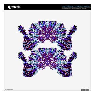 Purple Black Kaleidoscope Mandala Art PS3 Controller Decal