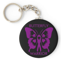 Purple/Black key chain Butterfly Warrior