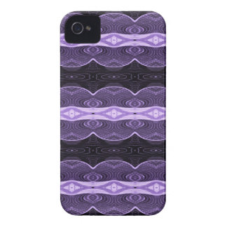 Purple black lace abstract iPhone 4 cover