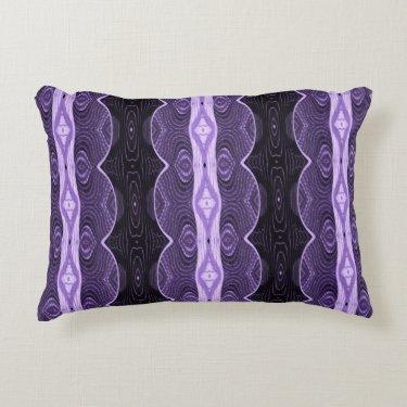 Purple black lace design accent pillow