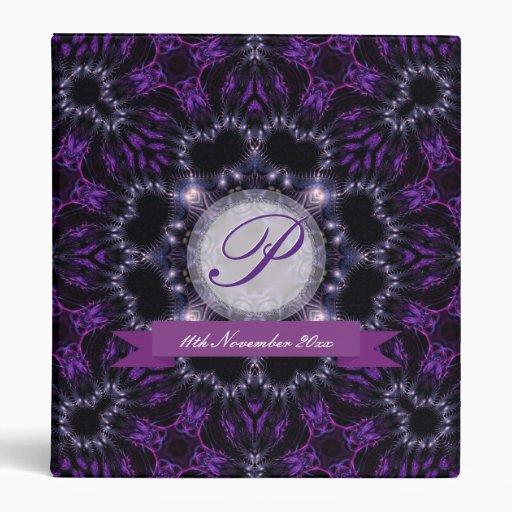 Purple & Black Magic Wedding Album Binder