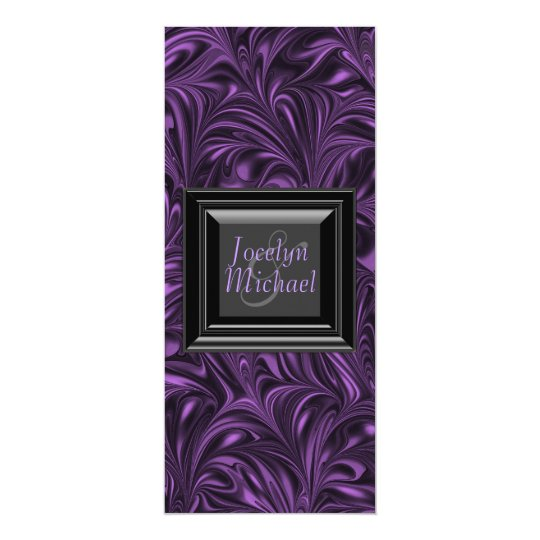 Purple Black Marbled Wedding Programs