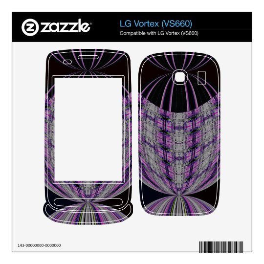purple black mod circle abstract decals for the LG vortex