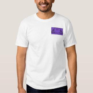 Purple & Black Monogram Filigree Tees
