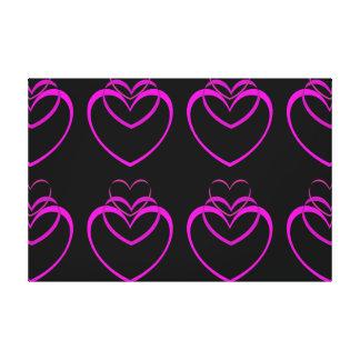 Purple Black Neon Patterned Large Canvas Art Decor
