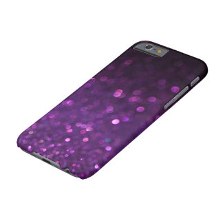 Purple & Black Ombre Glitter Barely There iPhone 6 Case