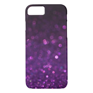 Purple & Black Ombre Glitter iPhone 7 Case