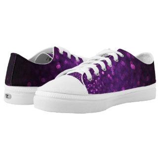 Purple & Black Ombre Glitter Low-Top Sneakers