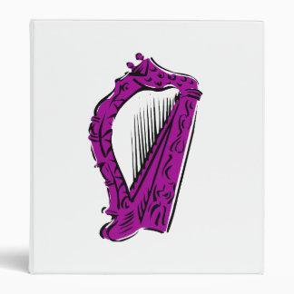 purple black ornate harp music design.png binder