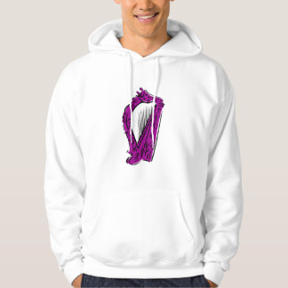 purple black ornate harp music design.png hoodie