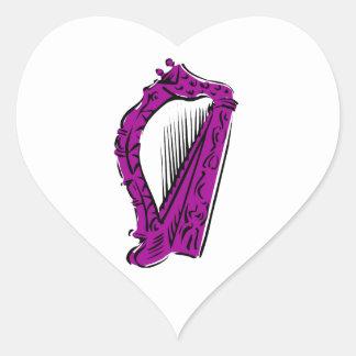 purple black ornate harp music design.png heart sticker