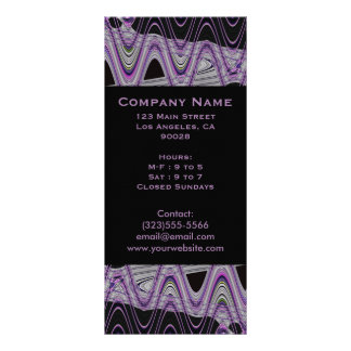 purple black pattern rack card