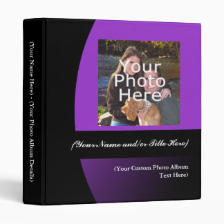Purple/Black Personalized Photo Album Binder